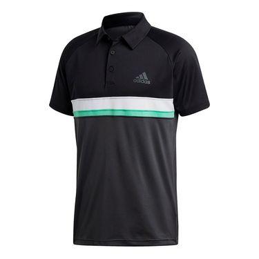 adidas Club Color Block Polo - Black/Dark Grey Heather