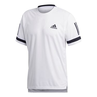 adidas Club 3 Stripes Crew - White