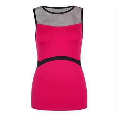 Chrissie Boat Neck Tank - Garnet Red