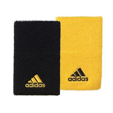 adidas Tennis Wristband Large - Black/EQT Yellow