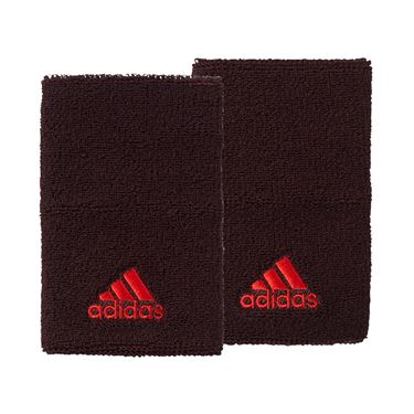 adidas Tennis Wristband Large - Dark Burgundy/Scarlet