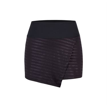 Chrissie Front Overlap Skirt - Metallic Stripe