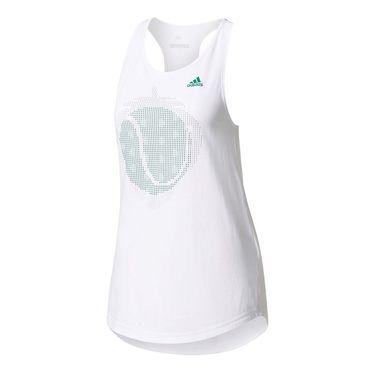 adidas London Line Graphic Tank - White