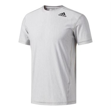 adidas Vertical Heather Tee - Solid Grey/White
