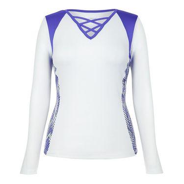 Chrissie Long Sleeve Top - Target Line/Indigo