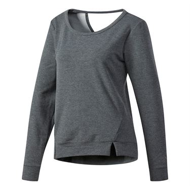 adidas Performer Long Sleeve Cover Up - Dark Grey Heather