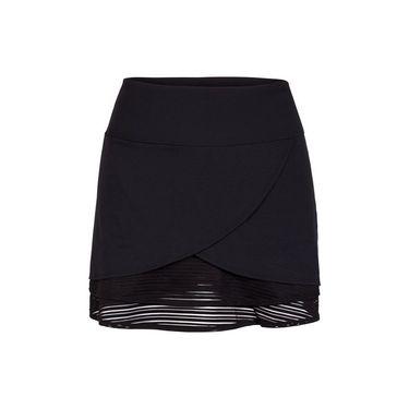 Chrissie Tulip Overlay Skirt - Black
