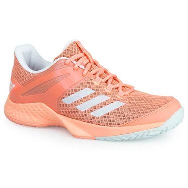 adidas adizero Club Womens Tennis Shoe - Chalk Coral/White/Blue Tint