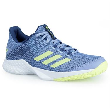 adidas adizero Club Womens Tennis Shoe - Chalk Blue/Semi Frozen Yellow/Noble Indigo