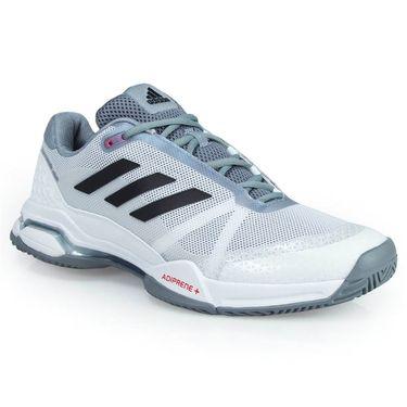 adidas Barricade Club Mens Tennis Shoe - White/Core Black/Grey