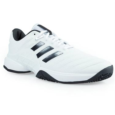 adidas barricade 2018 Mens Tennis Shoe - White/Core Black/Matte Silver