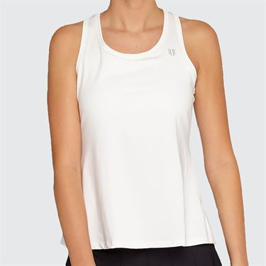Eleven Needlepoint Race Day Tank - White
