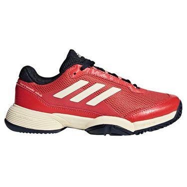 adidas Barricade Club Junior Tennis Shoe - Night Navy/Ecru Tint/Trace Scarlet