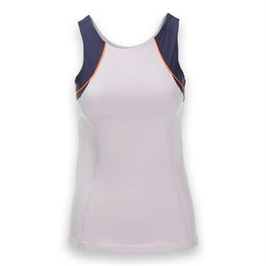 Lucky in Love On the Line High Neck Colorblock Tank - Lavender