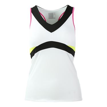 Lucky in Love Neo Geo V Neck Colorblock Tank - Pinkberry