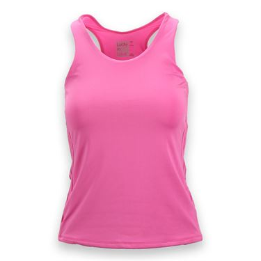 Lucky in Love Doubled Front Racerback Tank - Pinkberry