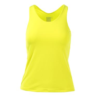Lucky in Love Doubled Front Racerback Tank - Yellow