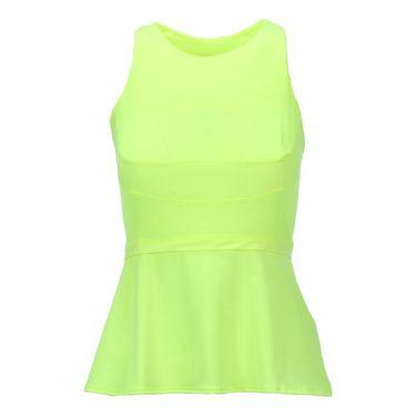 Lucky in Love Roxanne Peplum Tank -Neon Yellow