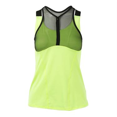Lucky in Love Starburst Zip Mesh Cami - Neon Yellow