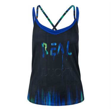 Lucky in Love Technicolor Real Lucky Tank - Black