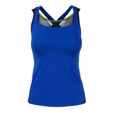 Lucky in Love Technicolor Cover Up Tank - Sapphire