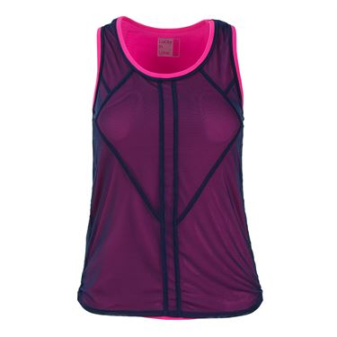 Lucky In Love Athena Layered Tank - Midnight