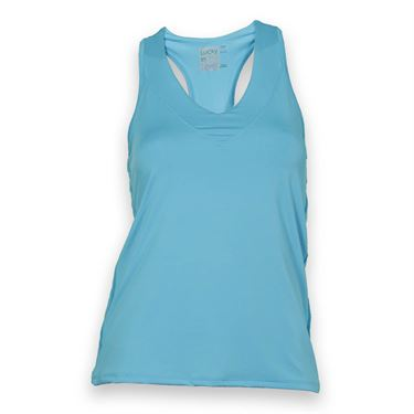 Lucky in Love Core V Neck Tank-Ocean