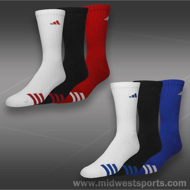 adidas Cushioned 3 Stripe 3 Pack Crew