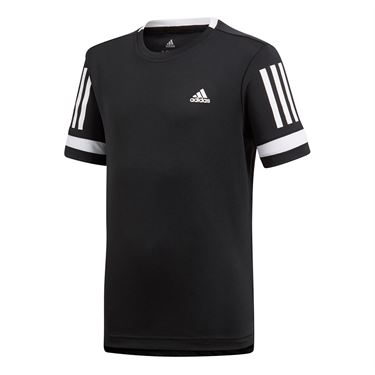 adidas Boys Club 3 Stripes Crew - Black