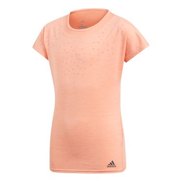 adidas Girls Dotty Tee - Chalk Coral