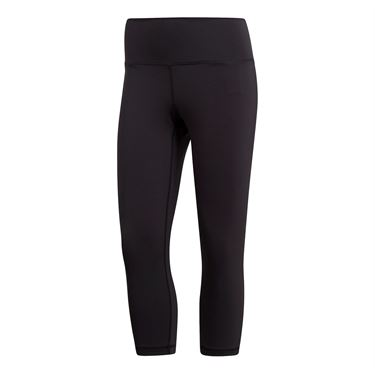 adidas Believe This High Rise Cropped Pant - Dark Grey Heather