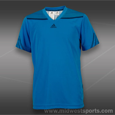 adidas Boys adizero V-Neck-Solar Blue