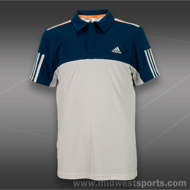 adidas Boys Response Traditional Polo-White