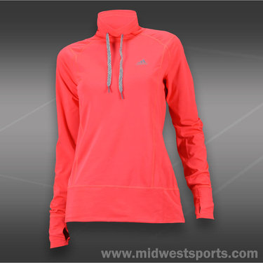 adidas Tech Fit Pullover-Red Zest