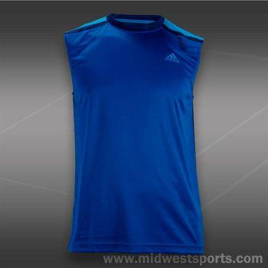 adidas ClimaMax Sleeveless Tee-Blue Beauty
