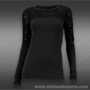 Tonic Ripple Long Sleeve Top-Black