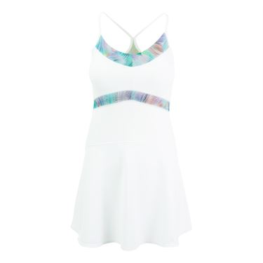 Tonic Power Dress - White/Fern