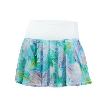 Tonic Drop Shot Skirt - White/Fern