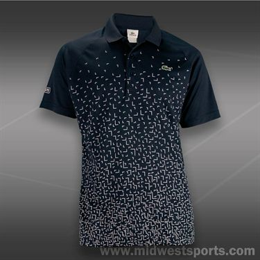 Lacoste Ultra Dry Printed Polo -Navy/White