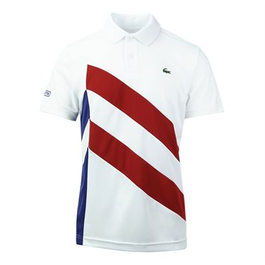 Lacoste Side Color Block Polo - White
