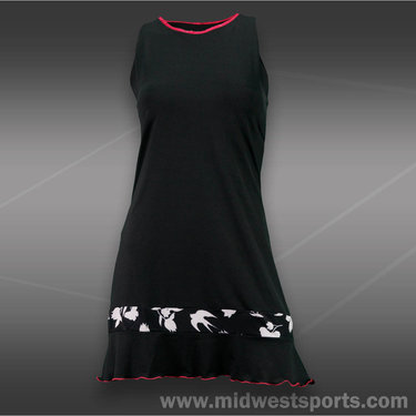 Denise Cronwall Finch Tennis Dress -Black