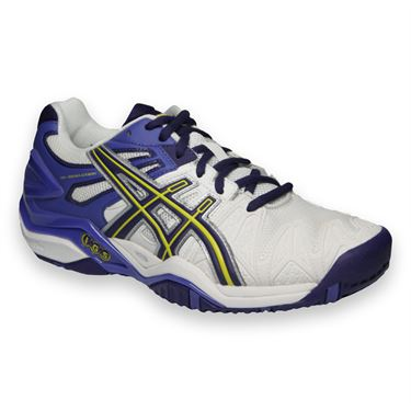 Asics Gel Resolution 5 Womens Tennis Shoe-White/Purple/Lavender