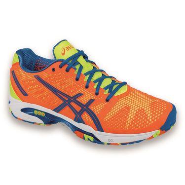 Asics Gel Solution Speed 2 Mens Tennis Shoe-Flash Orange/Blue/Flash Yellow