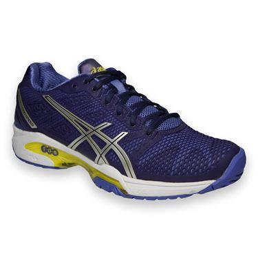 Asics Gel Solution Speed 2 Womens Tennis Shoe-Purple/Silver/Lime