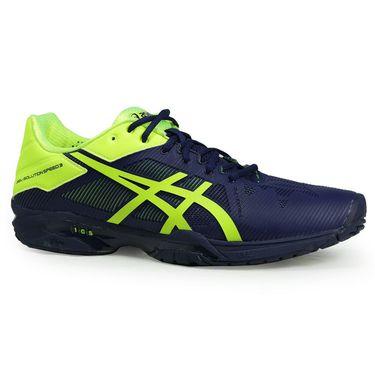 Asics Gel Solution Speed 3 Mens Tennis Shoe - Indigo Blue/Safety Yellow