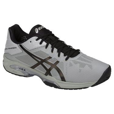 Asics Gel Solution Speed Mens Tennis Shoe - Mid Grey/Black