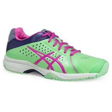Asics Gel Court Bella Womens Tennis Shoe - Paradise Green/Pink Glow/Indigo Blue