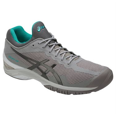 Asics Court FF Mens Tennis Shoe - Aluminum/Dark Grey/Lapis