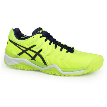 Asics Gel Resolution 7 Mens Tennis Shoe - Safety Yellow/Indigo Blue/White