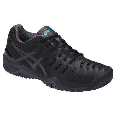 Asics Gel Resolution 7 Mens Tennis Shoe - Black/Dark Grey/Lapis